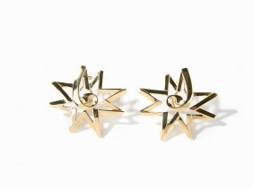 Tiffany & Co., Paloma Picasso Ear Studs Of 18 K Yellow