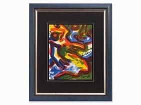 Bengt Lindström, Composition, Lithograph In Colors,