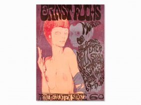 Ernst Fuchs, Das Ungleiche Paar, Poster, Color