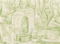 Hans Purrmann Brunnen in Levanto Lithograph 1965