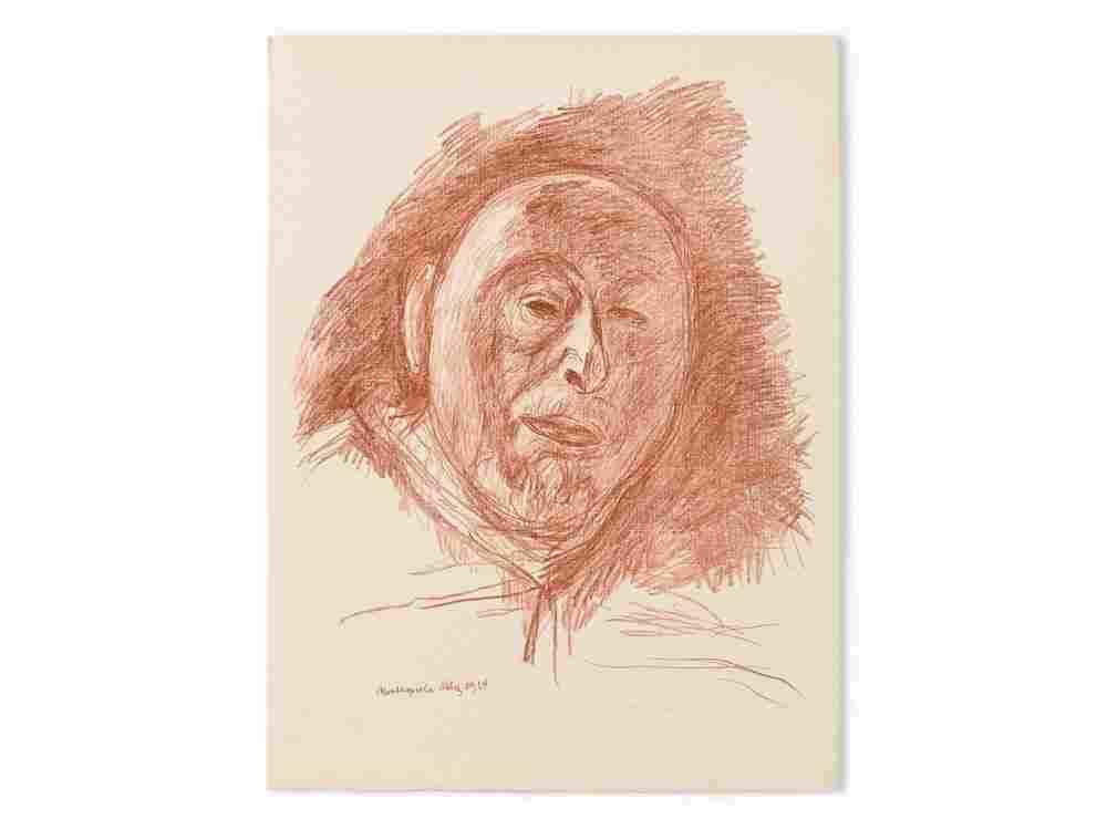Hans Purrmann, Self Portrait, Lithograph, 1964
