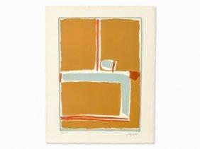 José Guerrero, Abstract Composition, Color Lithograph,