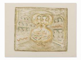 Massimo Campigli, Danzatrice, Lithograph In Colors,