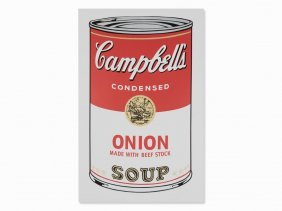 After Andy Warhol, Campbell's Onion Soup, Serigraph,