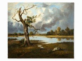 Léon Richet (1847-1907), Landscape, Oil, Late 19th