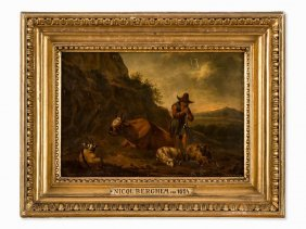 Circle Of Nicolas Berchem, Landscape With Shepherds,