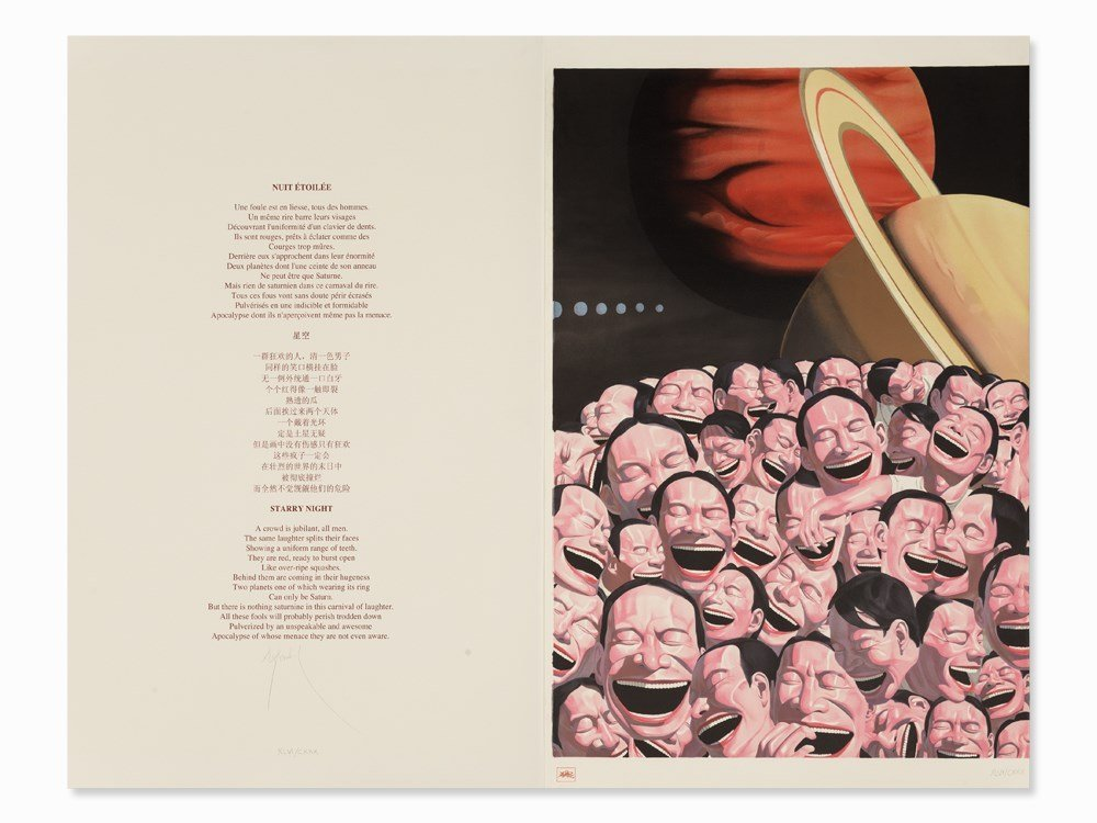Yue Minjun, from: Snatched Ecstasy, Lithograph, 2008