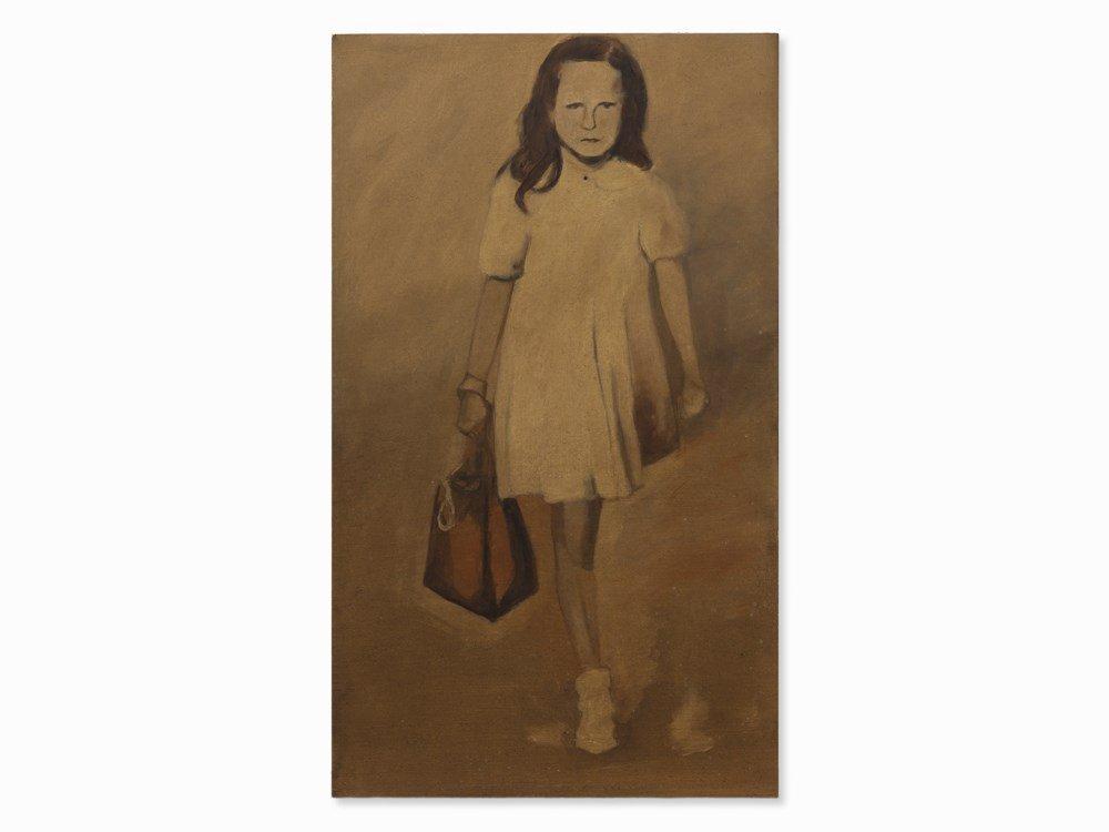 Reniere&Depla, Témoigner (Girl With Handbag), Acrylic,