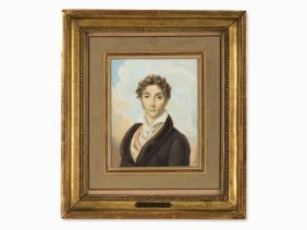 Jean Baptiste Isabey (1767-1855), Portrait, Watercolor,