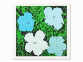 After Andy Warhol, Flowers, Poster, Serigraph In