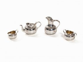 A 4 Piece Silver Service, goldsmiths &