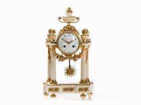 Louis Xvi Style Portico Clock, Planchon/japy, France,