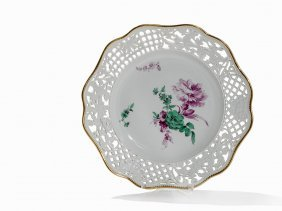 Meissen, Plate 'brühl'sches Allerlei',flower Painting,