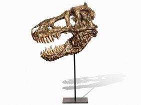 Replica Of A Tyrannosaurus Skull In Scale 1: 1, 55 Kg