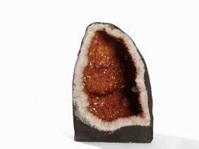 Half Geode With Citrine Crystals, C. 36.10 Kg, Brazil