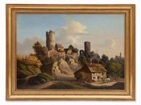Carl Birckenstädt, Painting, View Of Castle