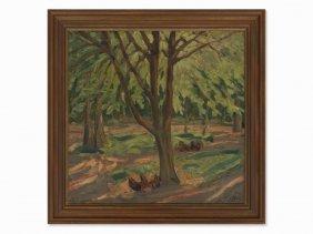 Carl Jörres (1872-1947), Forest Landscape, Oil,