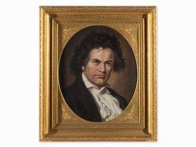 H. H. Schlimarski Attributed, Portrait Beethoven, Late