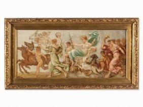 Daniel Hock, Oil Painting, Triumph Of Diana, Austria,