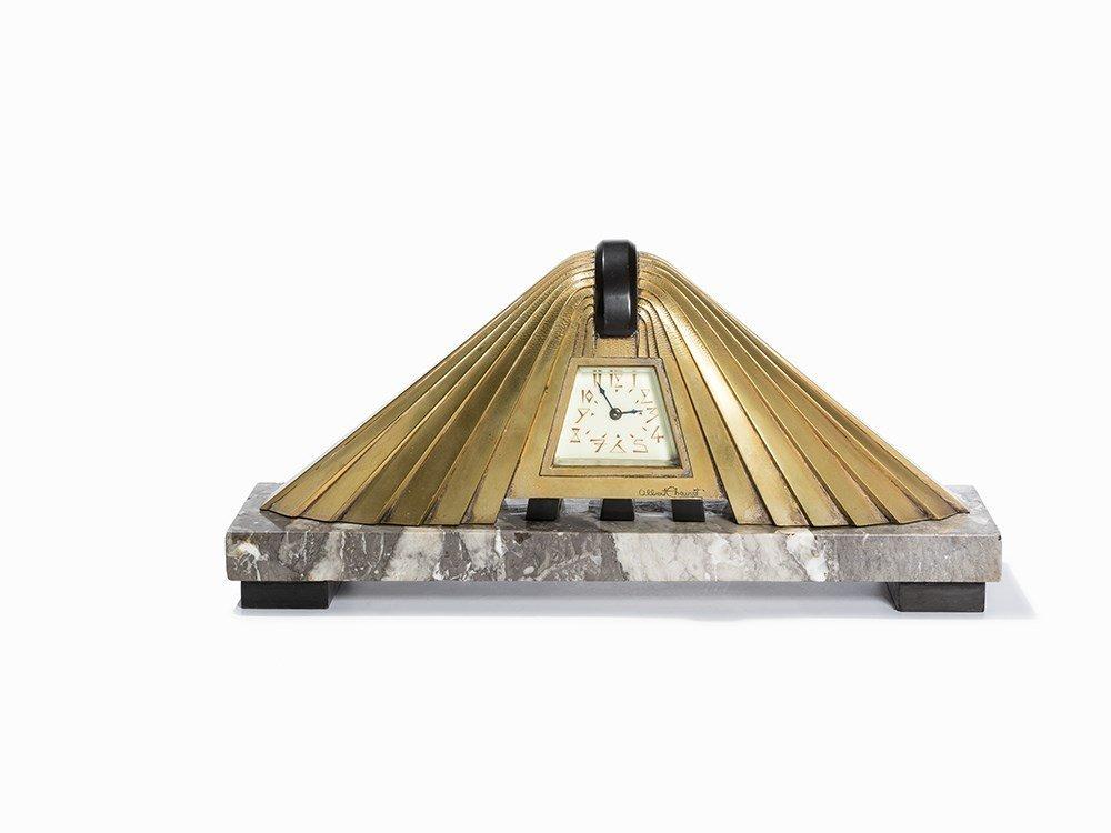 Albert Cheuret, Art Deco Mantel Clock 'L'Egyptienne',