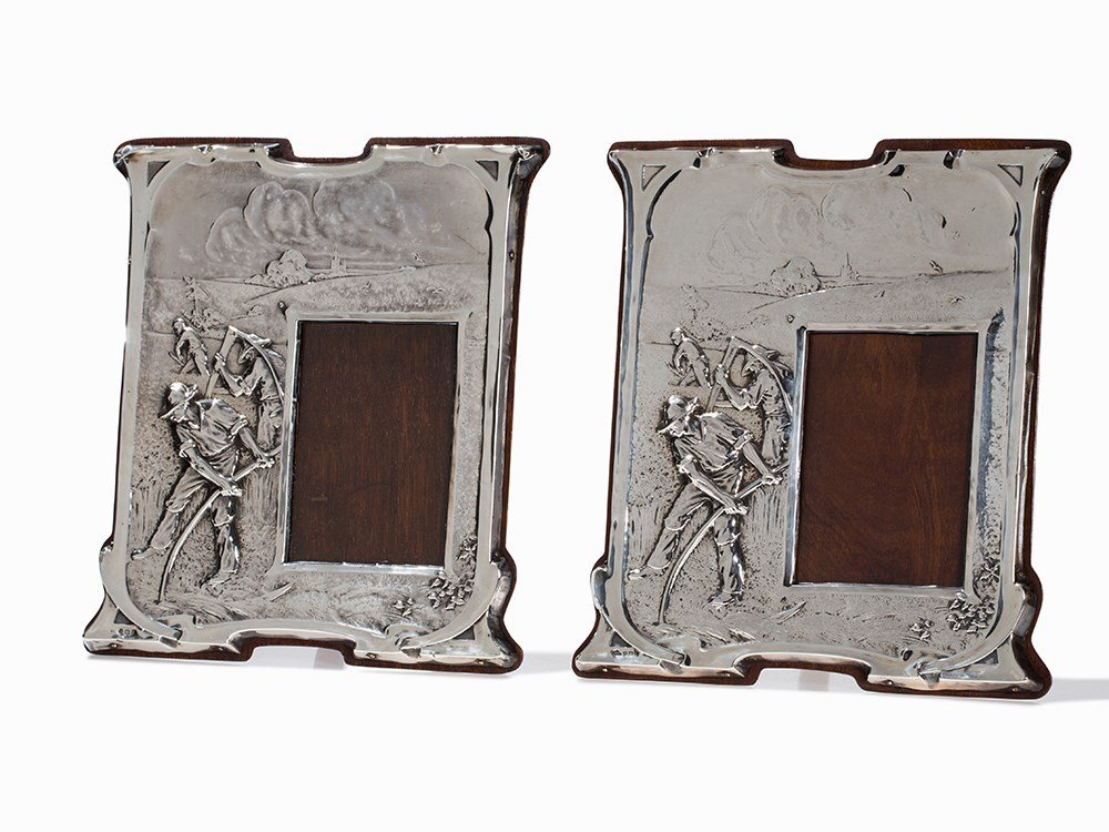 A Pair of Matched Silver Mounted Frames, Birmingham,