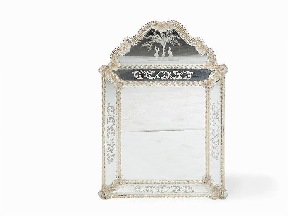 A Hollywood Regency Style Venetian Mirror, Italy, 1970s