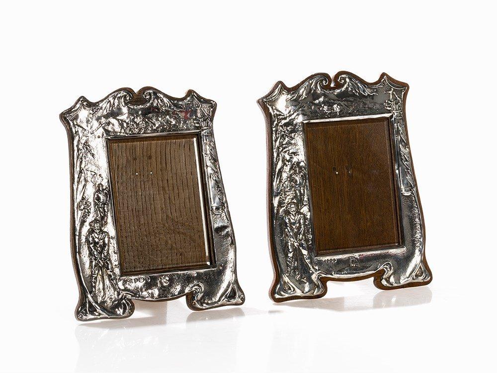 A Pair of Matching Silver Frames, Birmingham, 1904/5