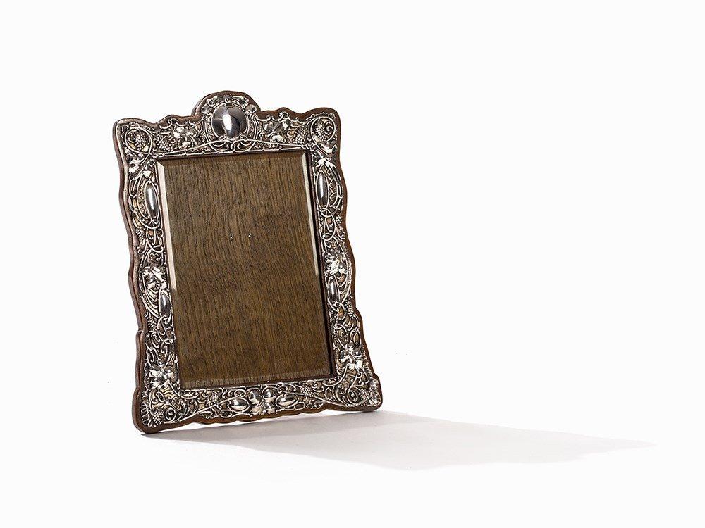 Synyer & Beddoes, Silver Art Nouveau Frame, UK, 1903