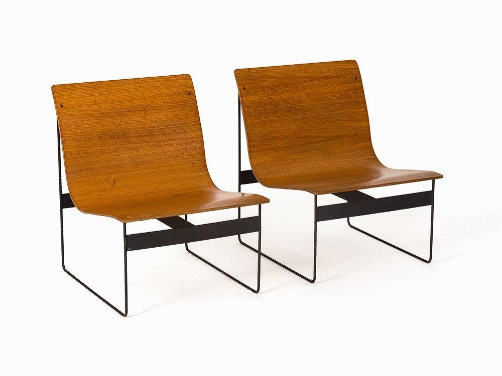 Günter Renken, Pair of Chairs, REGO, Germany, 1959