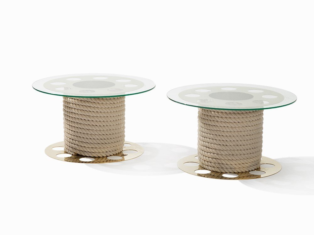 Paco Rabanne, Pair of Coffee Tables, France, 1970s