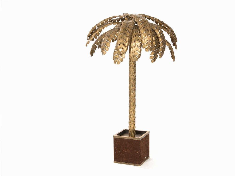 Maison Jansen, Triple-Light Palm Floor Lamp, France,