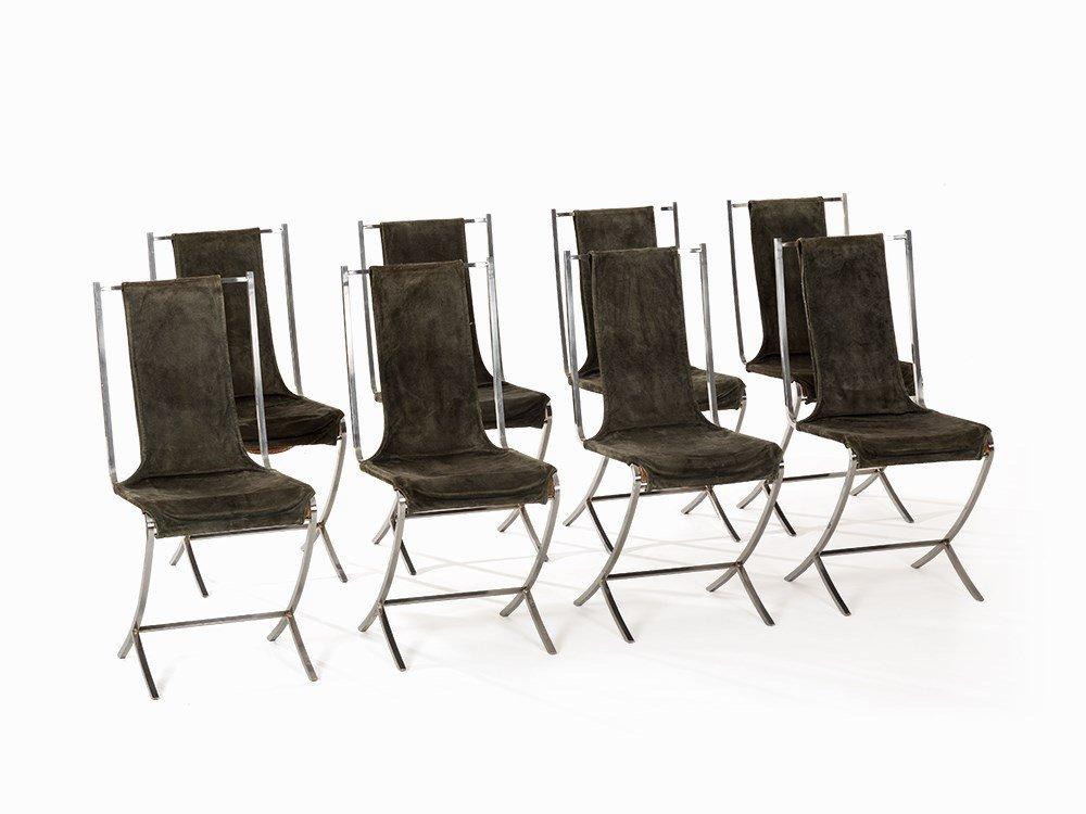 Pierre Cardin, Set of 8 Chairs, Maison Jansen, France,