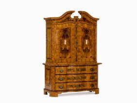 A German Baroque Inlayd Cabinet, Brunswick, 1770