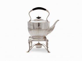 J.&w. Deakin, Tea Pot With Warmer, Sterling Silver,