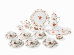Herend, Coffee And Tea Set With Floral Decor, Apponyi,