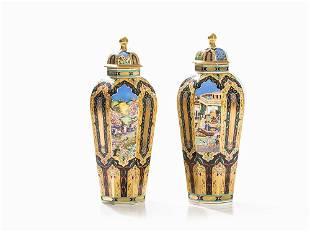 Herend, A Pair of Large Luxury Vases 'Babur I',