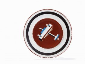 After Nikolai Suetin, Suprematist Porcelain Plate, 1930