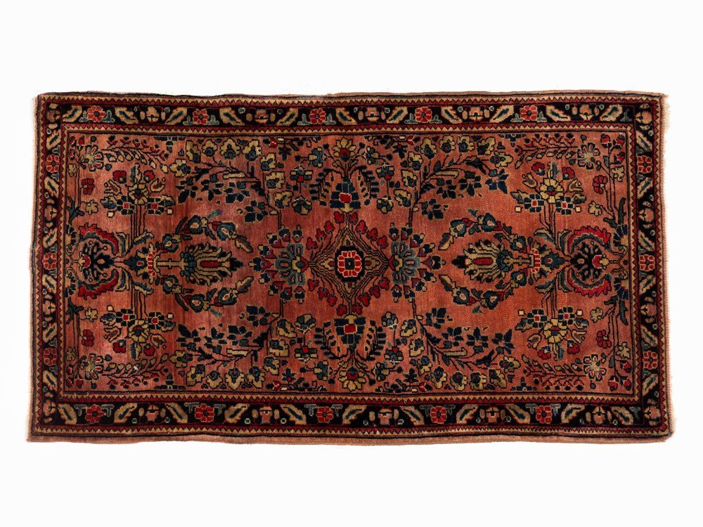 Persian Sarouk Rug with Botanical Pattern, Iran, early