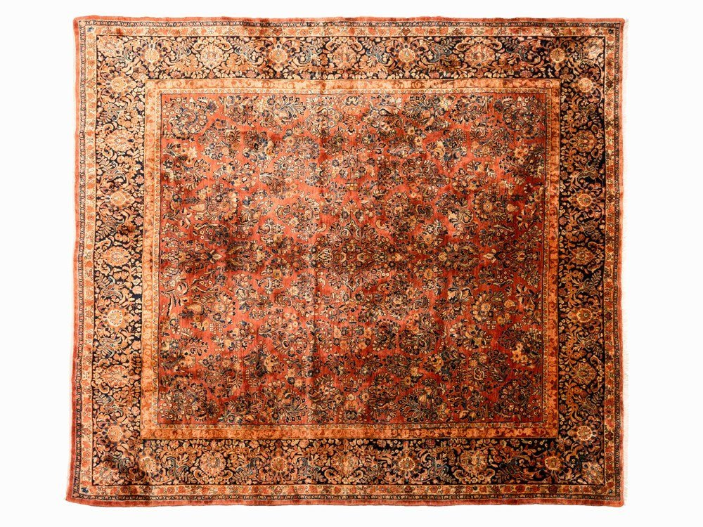 Persian Sarouk Rug with a Floral Pattern, Iran, early