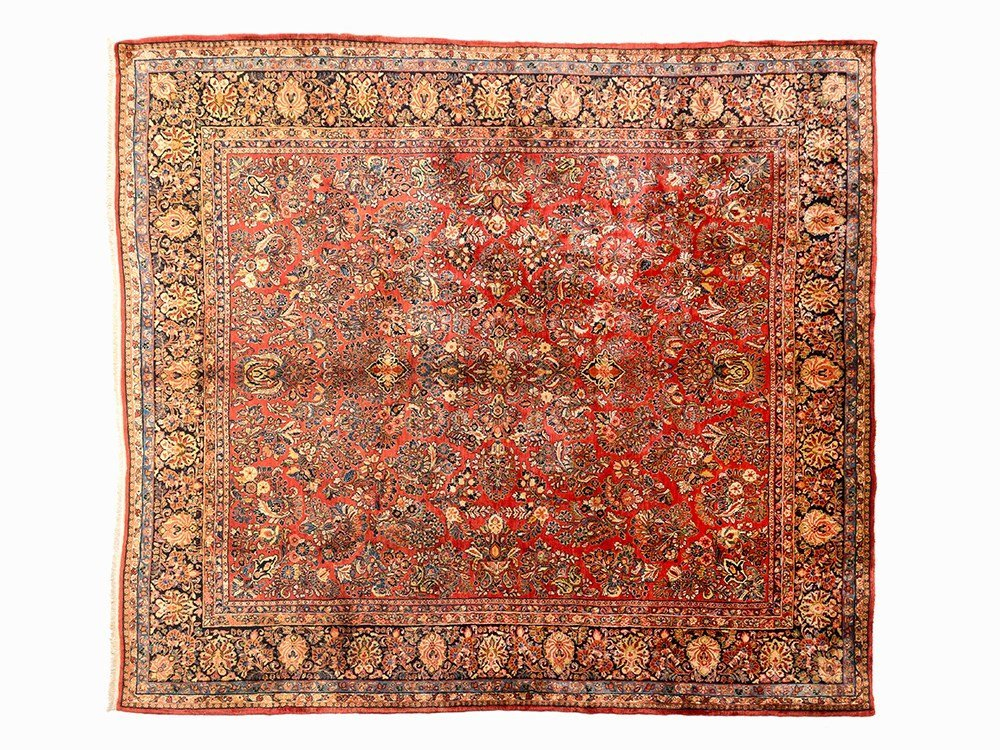 Persian Sarouk Rug with a Lush Floral Pattern, early