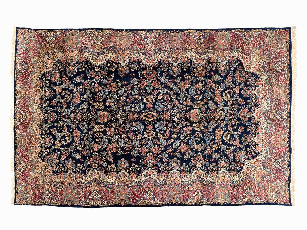 Persian Laver Rug with a Fine Flower Pattern, Iran