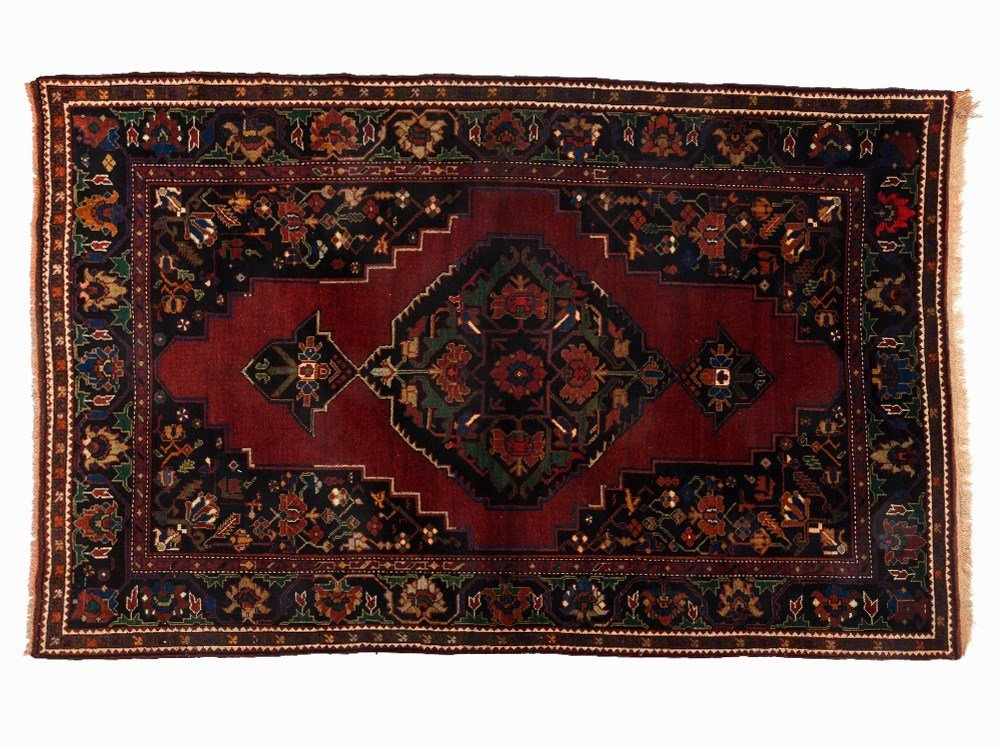 Kasak Rug with a Floral and Botanical Pattern, Caucasus
