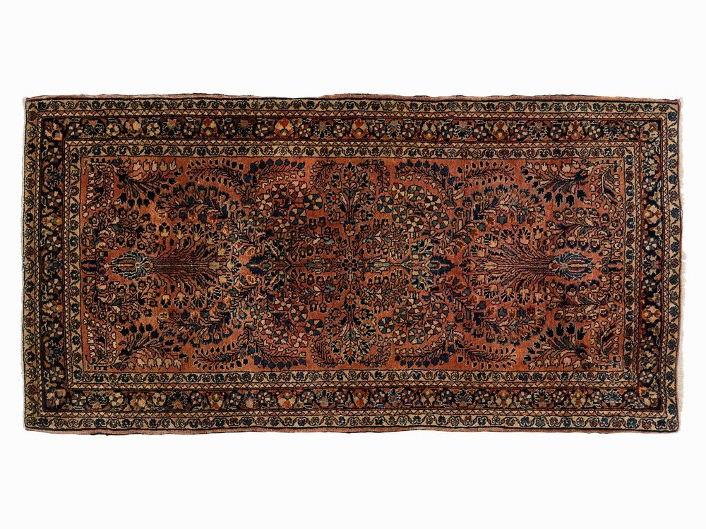 Persian Sarouk Rug with Floral Pattern, Iran, early