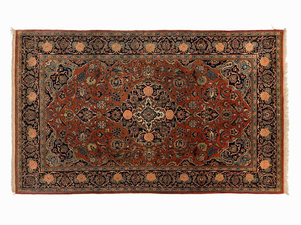 Persian Keschan with a Decorative Floral Pattern, Iran,