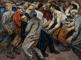 Vladimir Michajlovic Klenov, Der Angriff, Painting,