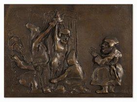 Alfred Hrdlicka (1928-2009), Münzer Und Luther, Bronze,