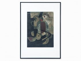 Aquatint In Colors, Abstract Composition, Austria, C.