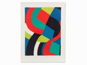 Sonia Delaunay-terk, Color Lithograph, France, C. 1970