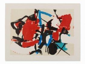 Afro Basaldella, Composizione, Lithograph In Colors,