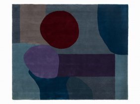 After Paul Klee, Bleu Et Rouge, Rug, 2nd H. 20th C.